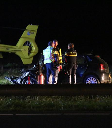 Drie zwaargewonden bij ongeval op A58