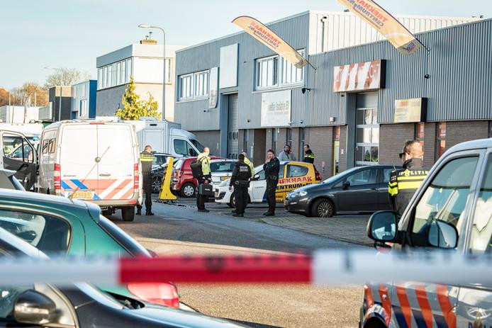 In december vorig jaar deed de politie een inval op het bedrijventerrein Nieuw Overvecht.