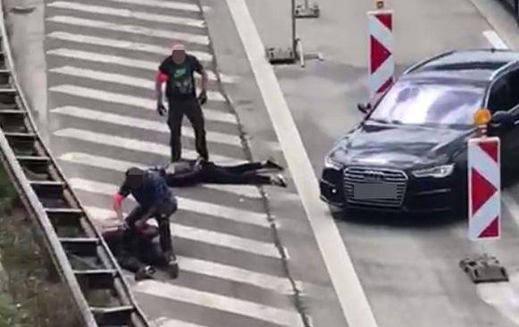 De twee Fransen werden zondagmiddag gearresteerd op de Antwerpse Ring.