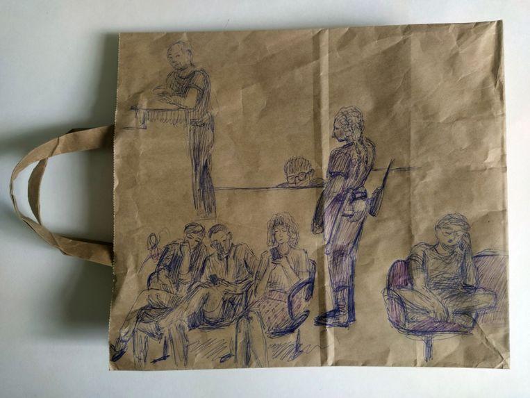 Werk van Anna Teresjkina, uit de 'The police station series'.  Beeld Stedelijk Museum/Anna Teresjkina