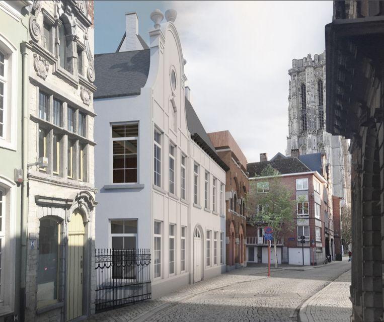 Een impressie van het project van dmvA op het huidige Mispelters in de Sint-Katelijnestraat in Mechelen.