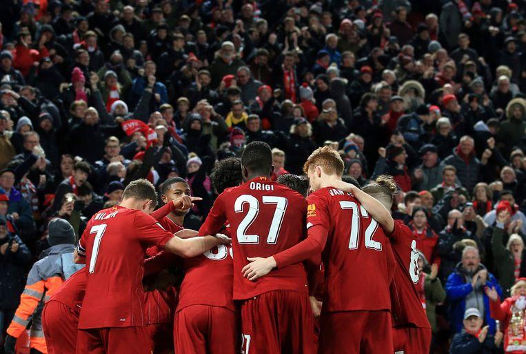 Liverpool won van Arsenal na een spektakelmatch.