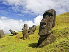 Sculpturen Paaseiland verdwijnen onder de stijgende zee