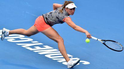 """Geen halve finale voor Elise Mertens in Sydney: """"Toch bemoedigend"""" - Greet Minnen bij grote WTA-doorbraak net als Flipkens pas in kwartfinale Hobart gestuit"""