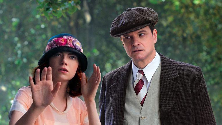 Emma Stone en Colin Firth Beeld Magic in the moonlight