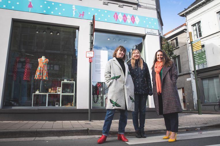 Evelien, Mieke en Barbara van Gentsekoop.