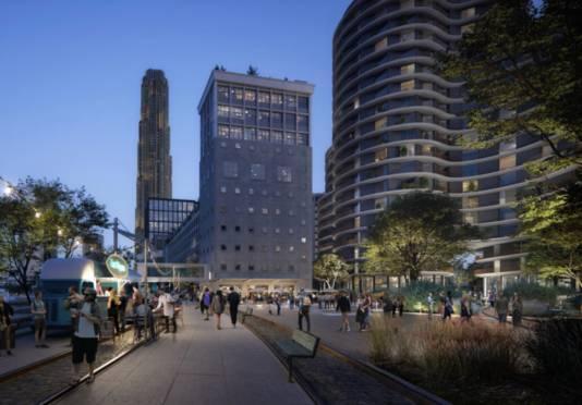 Impressie van de nieuwe wijk in de 'pols' van Katendrecht.