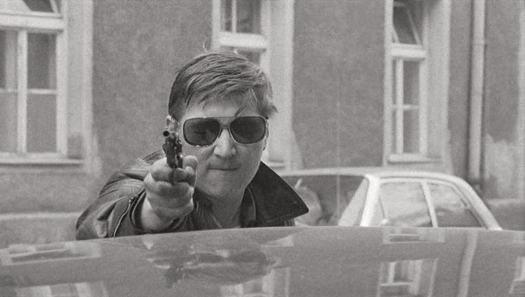 Fassbinder zelf in Liebe ist kälter als der Tod. Beeld Rainer Werner Fassbinder Foundation, Berlin /courtesy Schirmer/Mosel