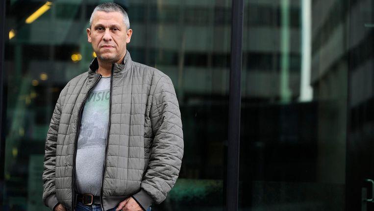 Ex-crimineel Martin Kok bij de rechtbank aan de Parnassusweg, waarvoor hij moet verschijnen na het publiceren van verklaringen uit verhoren met Willem Holleeder en zijn zussen Astrid en Sonja. Beeld anp
