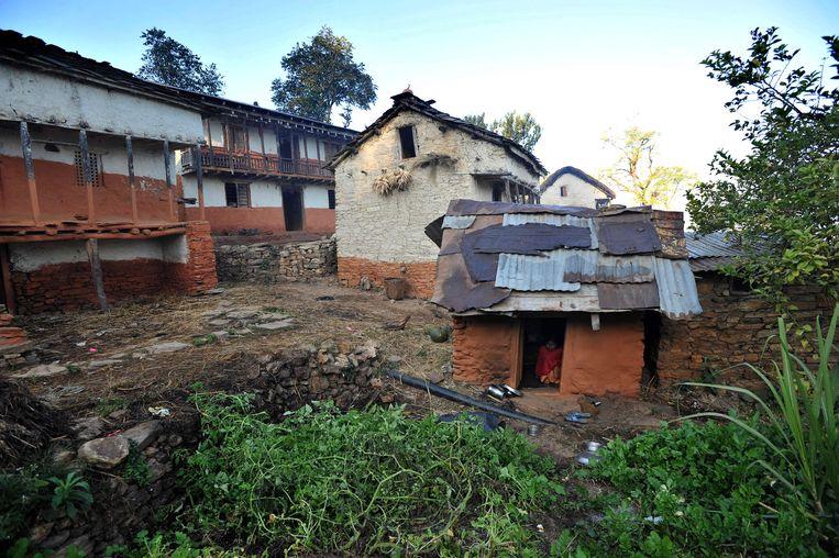 Een zogenaamd 'chhaupadi huis' in Nepal.