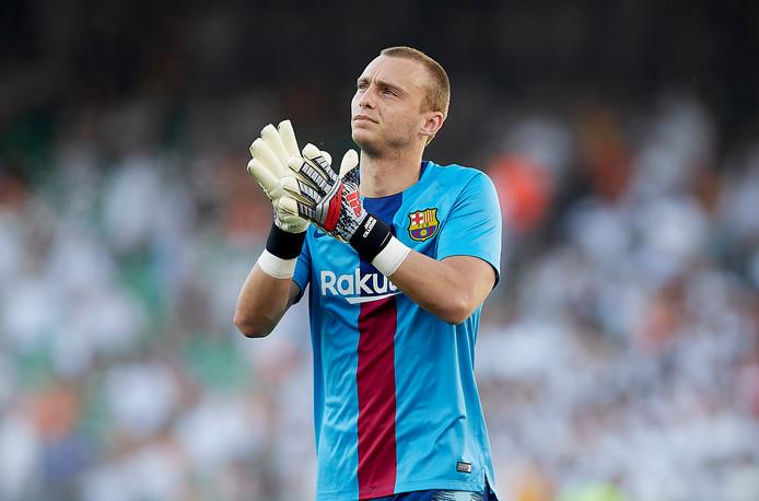 Groesbeker en oud-NEC'er Jasper Cillessen, hier nog in het shirt van FC Barcelona, maakt de overstap naar Valencia.