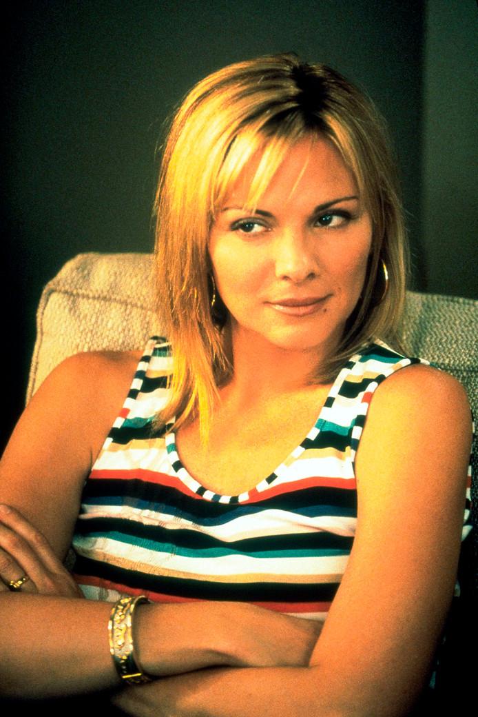 Kim Cattrall in het begin van Sex and the City.