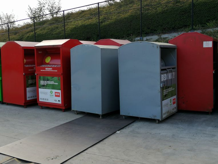 Textielcontainers in Tremelo.