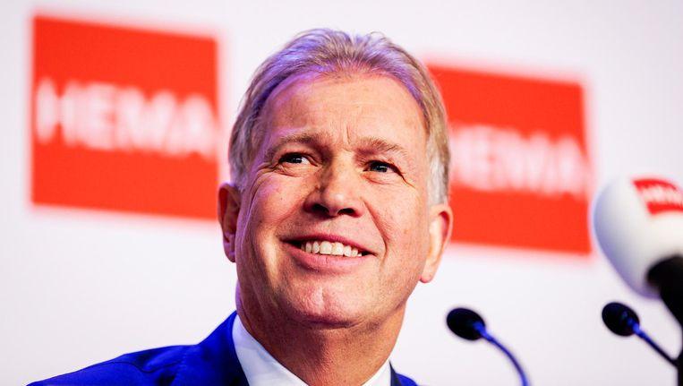 Marcel Boekhoorn tijdens de persconferentie. Beeld anp