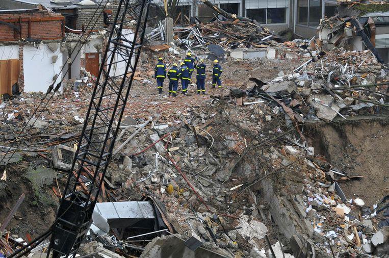 Het ingestorte stadsarchief van Keulen. Beeld AFP