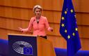La présidente von der Leyen, mercredi, à Bruxelles