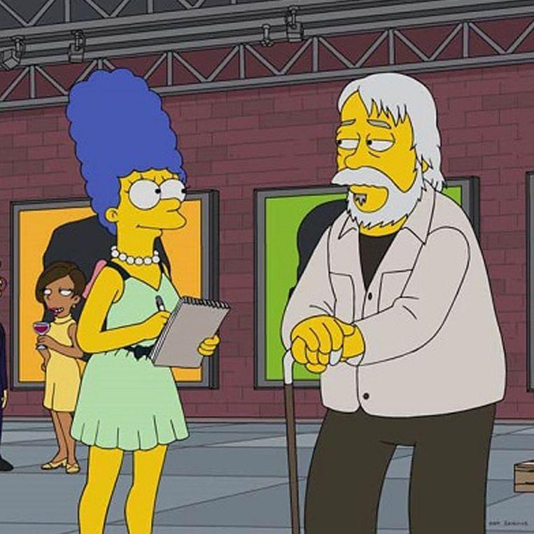 John Baldessari als karakter in The Simpsons (2017) Beeld