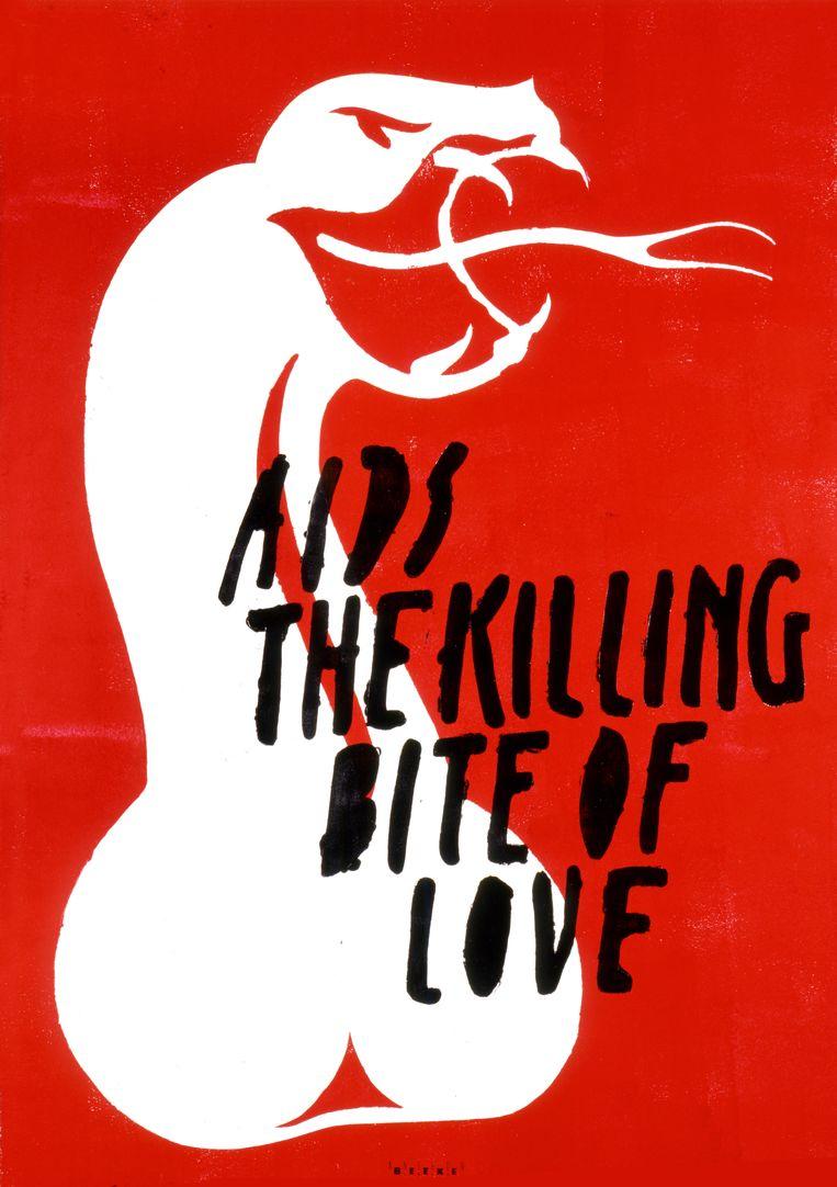 Campagne tegen aids, 1993. Beeld