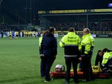 Ogenschijnlijke ernstige blessure legt wedstrijd Heracles even stil