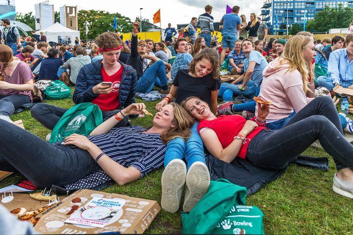 Studenten tijdens de UIT pre-corona.