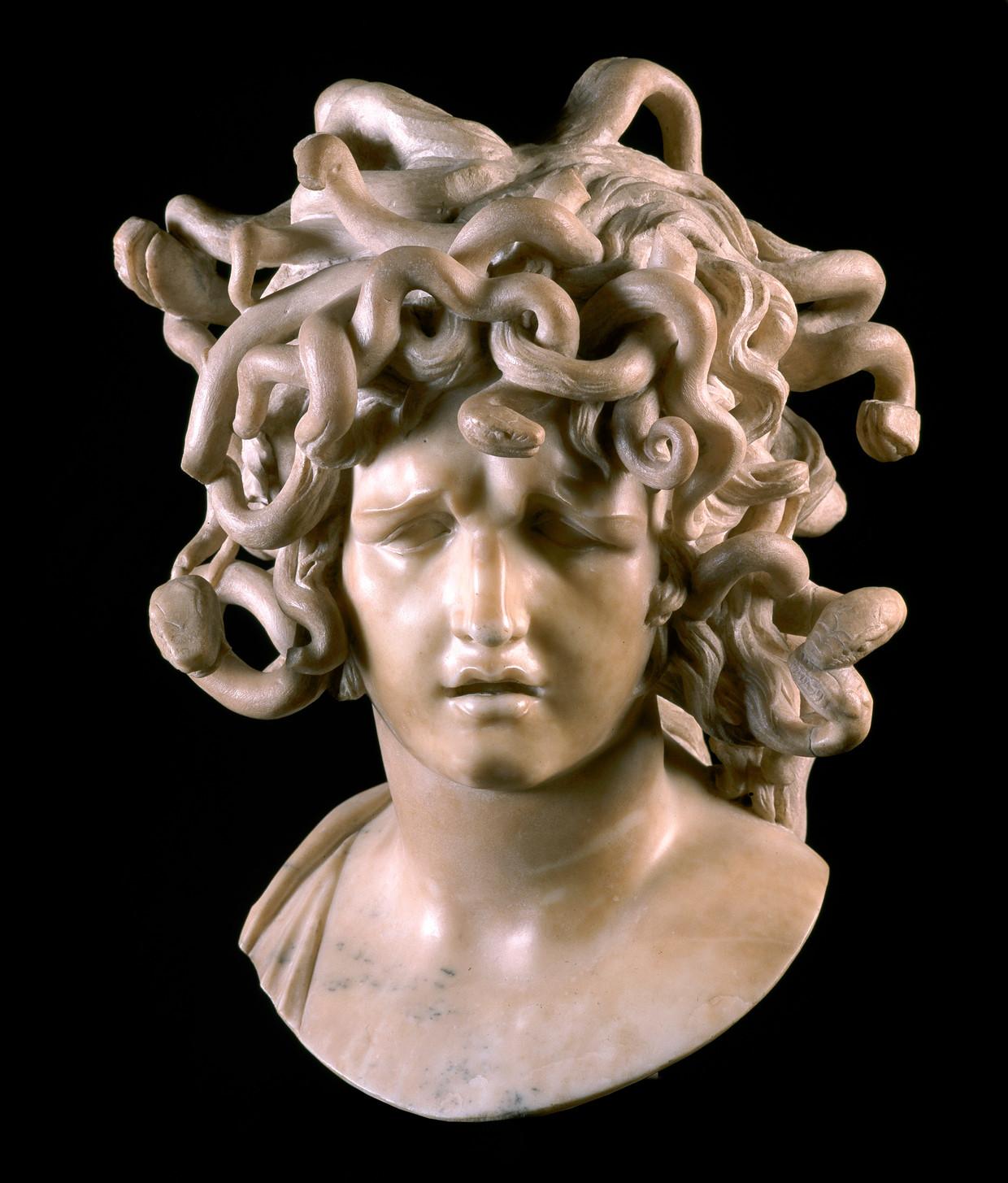 Het Medusa-hoofd van Gian Lorenzo Bernini (rond 1640), in bruikleen van de Musei Capitolini.