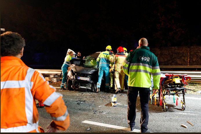 Ongeval met spookrijder op A2 bij Maarheeze