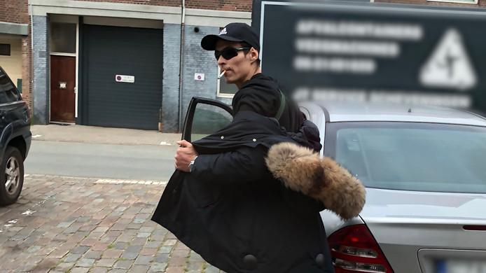 De verdachte in Scheveningen.