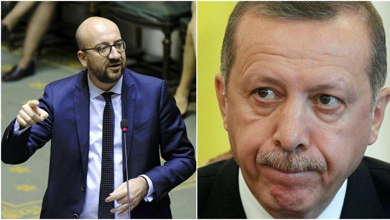 Premier Michel en de Turkse president Erdogan