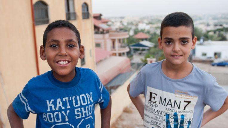 Palestijnse kinderen spelen bij het gebouw van Seeds of Hope van Tass Sadaa. Beeld ChristenUnie