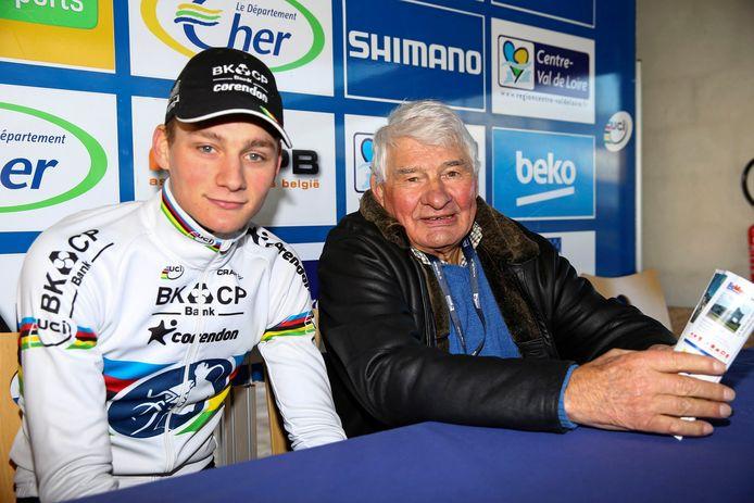 Mathieu van der Poel en zijn opa, Raymond Poulidor.