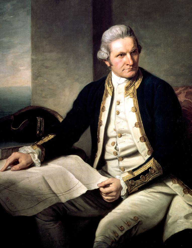 De Britse ontdekkingsreiziger James Cook. Beeld Print Collector/Getty Images