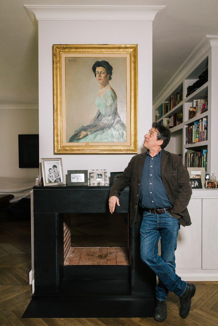 Sandro Veronesi: 'Toen ik ziek was, dacht ik alleen maar: als ik doodga, kan ik mijn boek niet afmaken, kan ik niet bij mijn vrouw blijven. Heel egoïstisch, echt verachtelijk.' Beeld Gianni Cipriano
