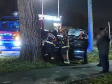 Auto rijdt tegen boom, persoon gewond