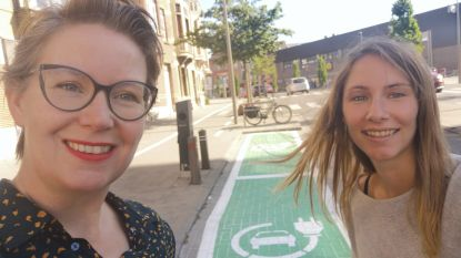 Opvallend groene parkeerplekjes: Vilvoorde verwelkomt 7 nieuwe laadpunten in 2020