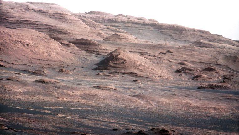 De telelensfoto van Mount Sharp. Beeld EPA
