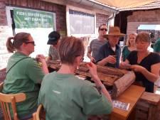 Gasten van festival Fier! drinken en eten in Hilvarenbeek een bos bij elkaar