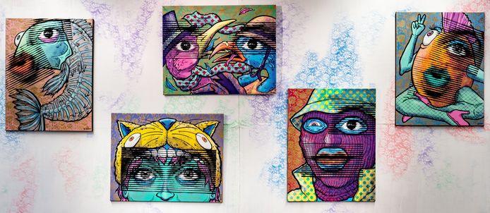 De kunst die gestolen werd uit het winkelcentrum Kijkduin