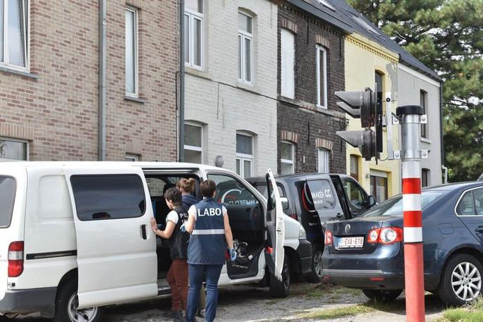 La maison de Benny R. est actuellement fouillée par le parquet de Flandre Orientale