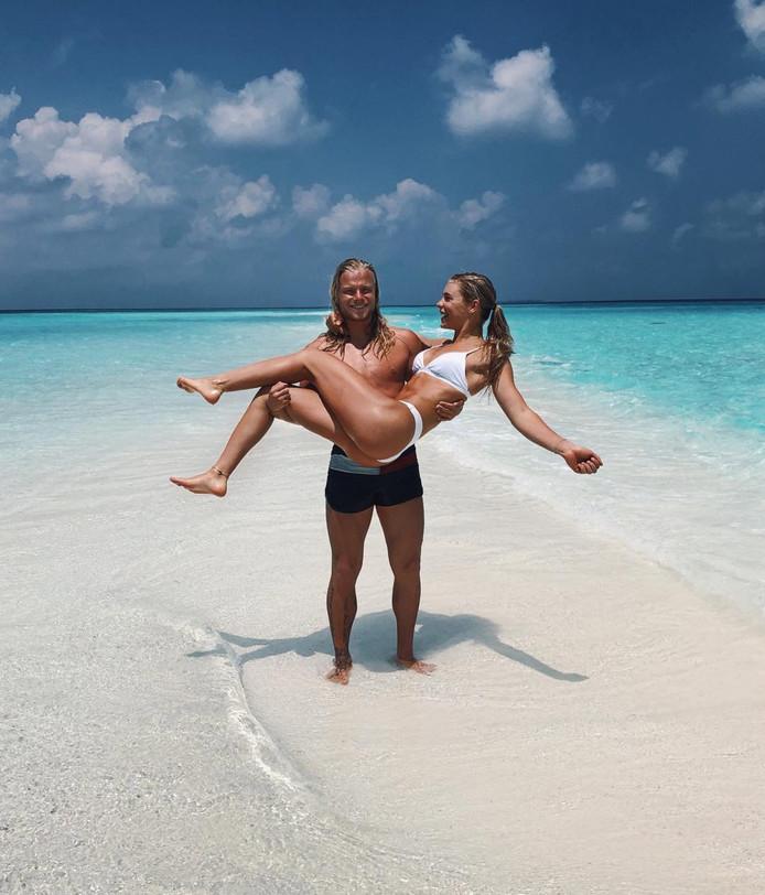 Koen Verweij met zijn vriendin Jutta Leerdam.