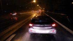 Dashcambeelden tonen hoe bestuurder met 35 km/u over E19 rijdt