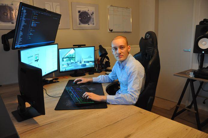 Jenten Lefever uit Waregem lanceert het bedrijfje Online Design.