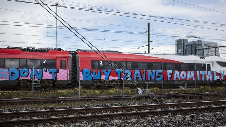 'Hadden ze maar geluisterd, dan had die trein nu gereden.' Beeld Julius Schrank