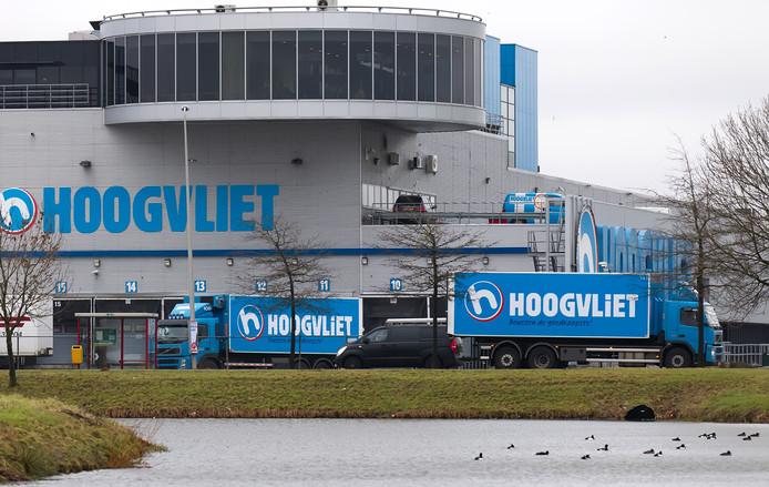Het huidige distributiecentrum van Hoogvliet in Alphen.