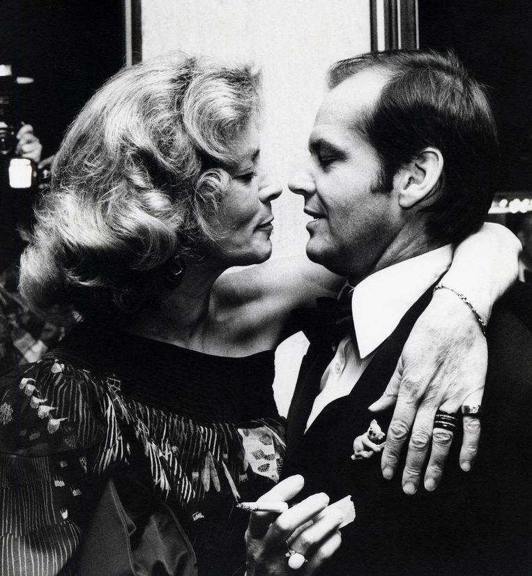 1976, met Jack Nicholson. Beeld WireImage