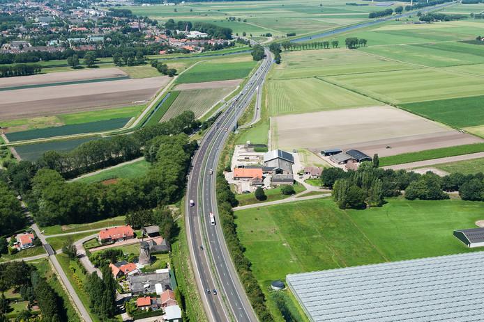 Een deel van de Baardwijkse Overlaat tussen Waalwijk en Drunen.