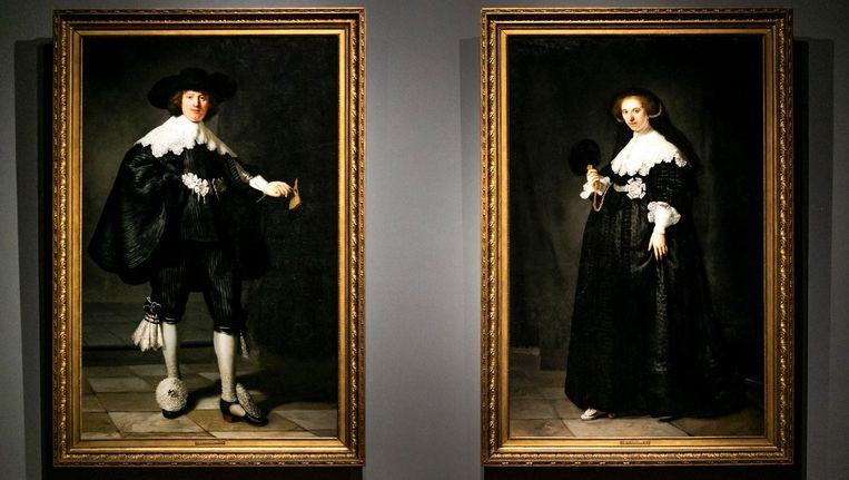 De schilderijen Marten en Oopjen van Rembrandt van Rijn maken deel uit van de tentoonstelling Alle Rembrandts. Beeld ANP
