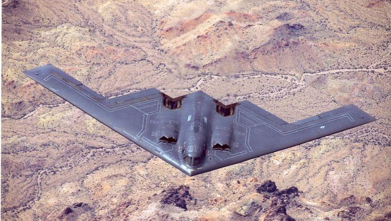 De B-2 Spirit-bommenwerper die B-83-atoombommen kan vervoeren. Beeld US Air Force