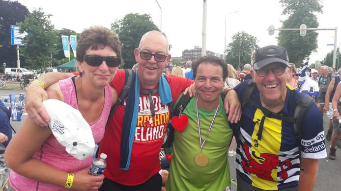 Anita Kole uit Kapelle, Peter Molhoek uit Middelburg, Louis Olivier uit Colijnsplaat en Johan Kole uit Kapelle.