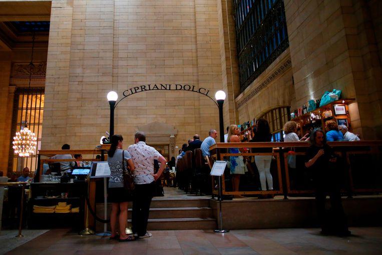 Het gerenommeerde restaurant Cipriani Dolci, gelegen in het Grand Central Terminal, het hoofdstation van New York.