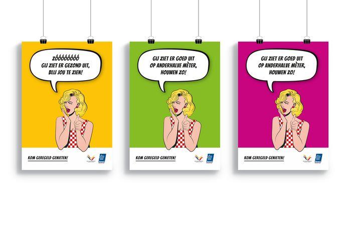 Posters van de campagne van de KHN Brabant en de veiligheidsregio Brabant-Noord.